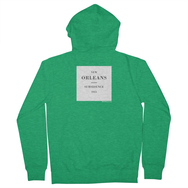 New Orleans - Subsidence Loose Fit Zip-Up Hoody by NOLA 'Nacular's Shop