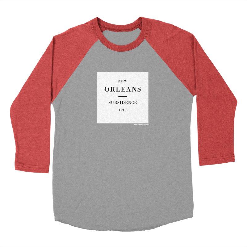 New Orleans - Subsidence Men's Baseball Triblend Longsleeve T-Shirt by NOLA 'Nacular's Shop