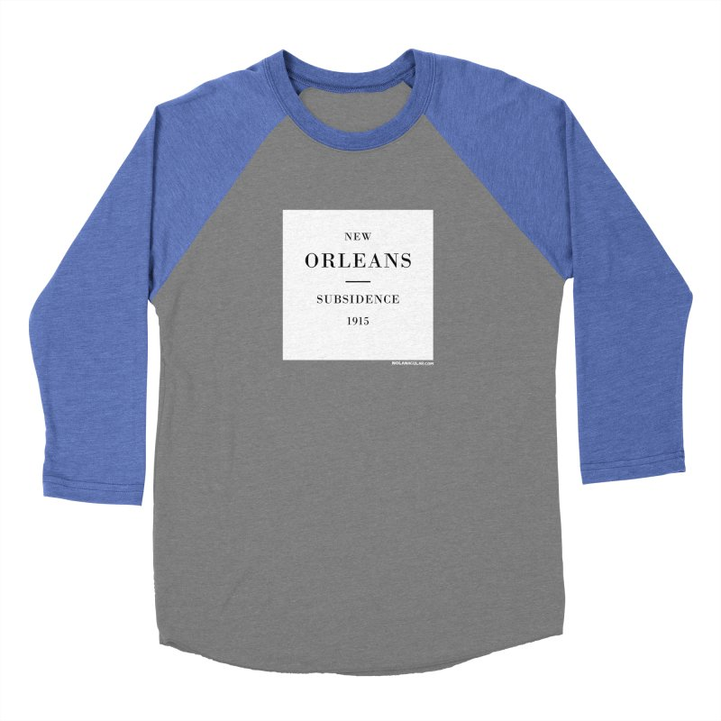 New Orleans - Subsidence Men's Baseball Triblend Longsleeve T-Shirt by NOLA 'Nacular's Shop