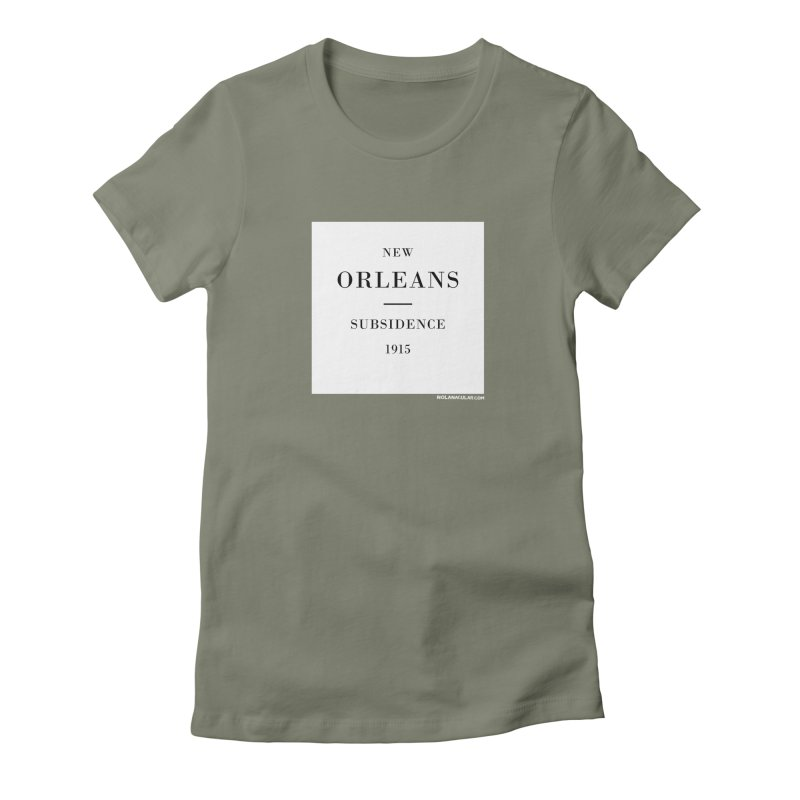 New Orleans - Subsidence Fitted T-Shirt by NOLA 'Nacular's Shop