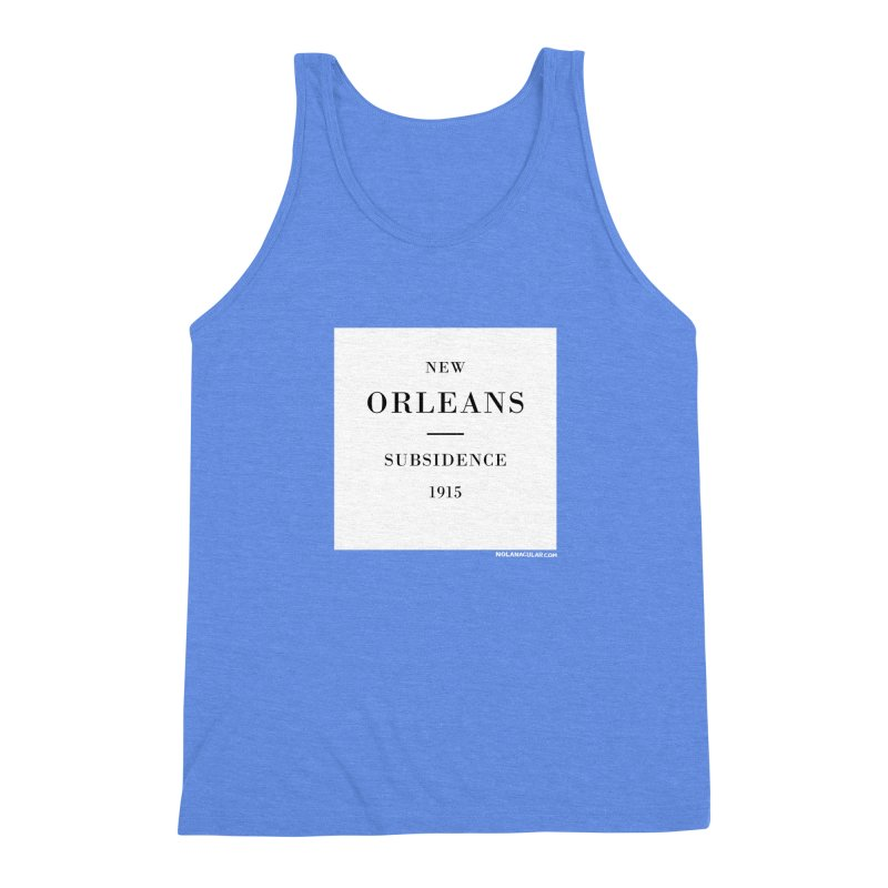 New Orleans - Subsidence Men's Triblend Tank by NOLA 'Nacular's Shop
