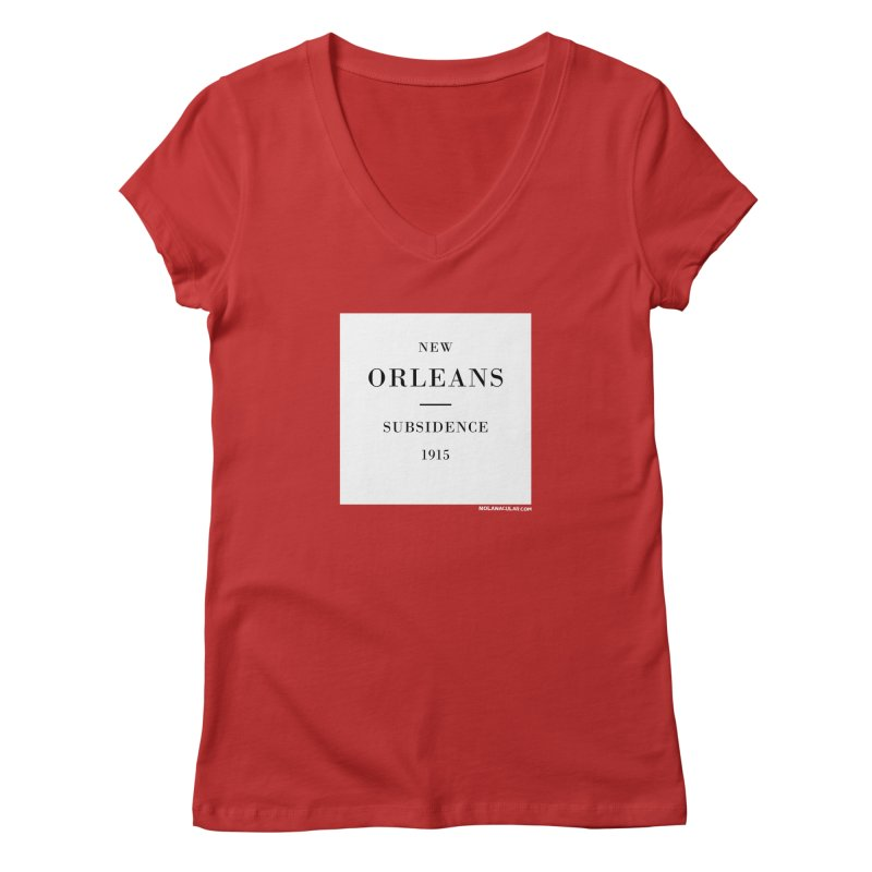 New Orleans - Subsidence Women's Regular V-Neck by NOLA 'Nacular's Shop