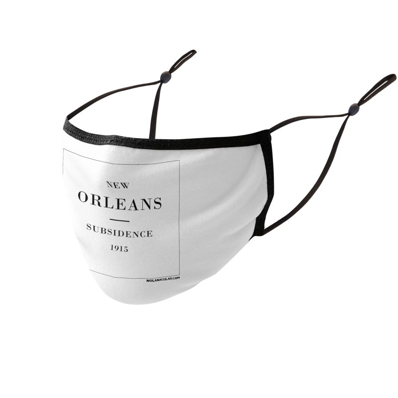 New Orleans - Subsidence (on white) Accessories Face Mask by NOLA 'Nacular's Shop