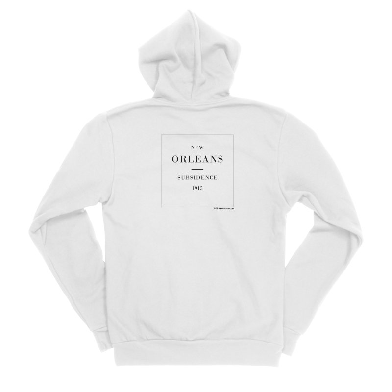 New Orleans - Subsidence (on white) Women's Sponge Fleece Zip-Up Hoody by NOLA 'Nacular's Shop