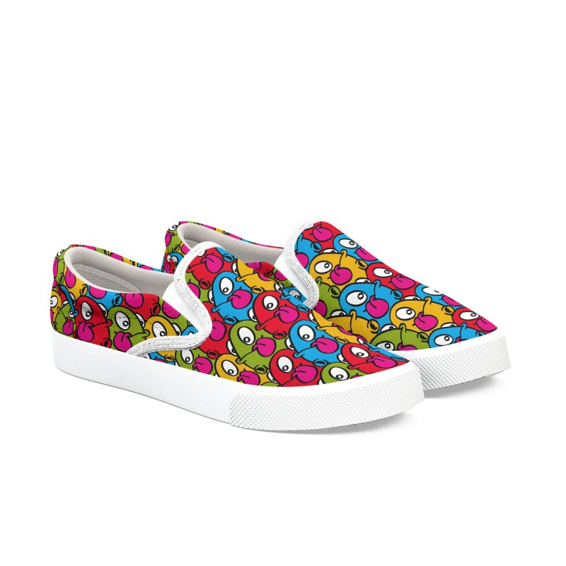 Let's go Bump all over!!! Men's Slip-On Shoes by nolart's Artist Shop