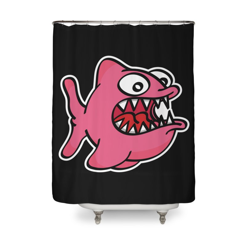 Something's Fishy Home Shower Curtain by nolart's Artist Shop
