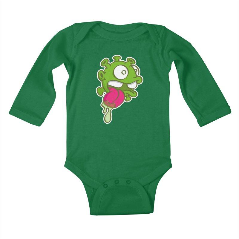 Corona Slime Kids Baby Longsleeve Bodysuit by nolart's Artist Shop