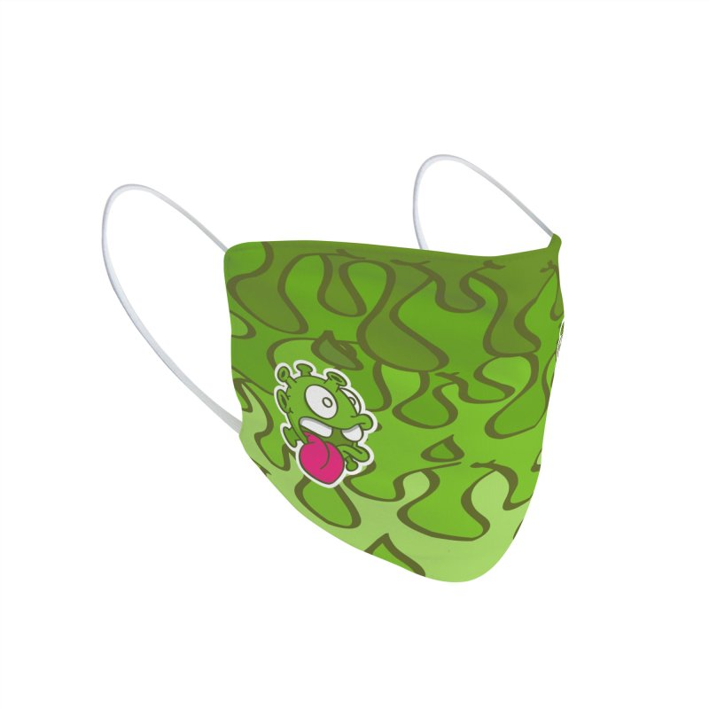 Green slimy Accessories Face Mask by nolart's Artist Shop