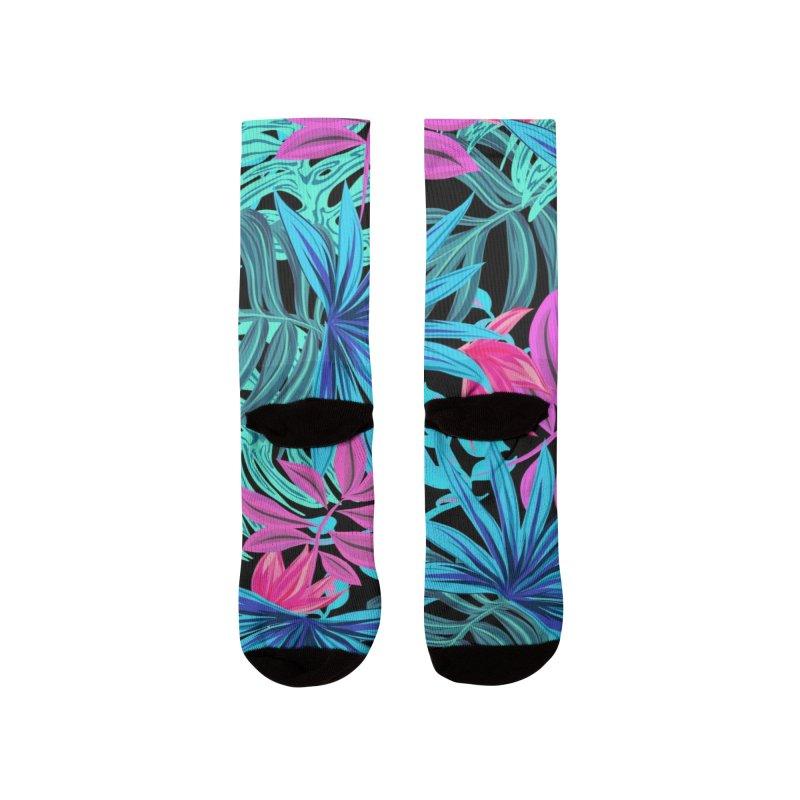 Ilustración de hojas tropicales multicolor Men's Socks by nomadfullprints Artist Shop