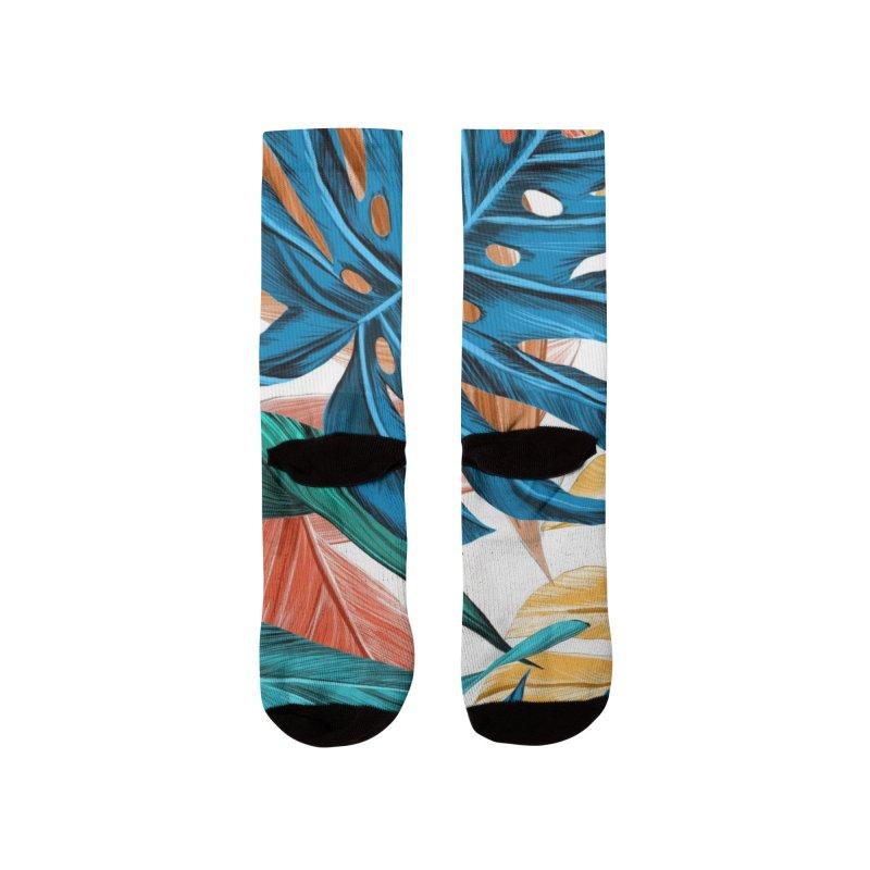 Ilustration tropical Leaves Men's Socks by nomadfullprints Artist Shop