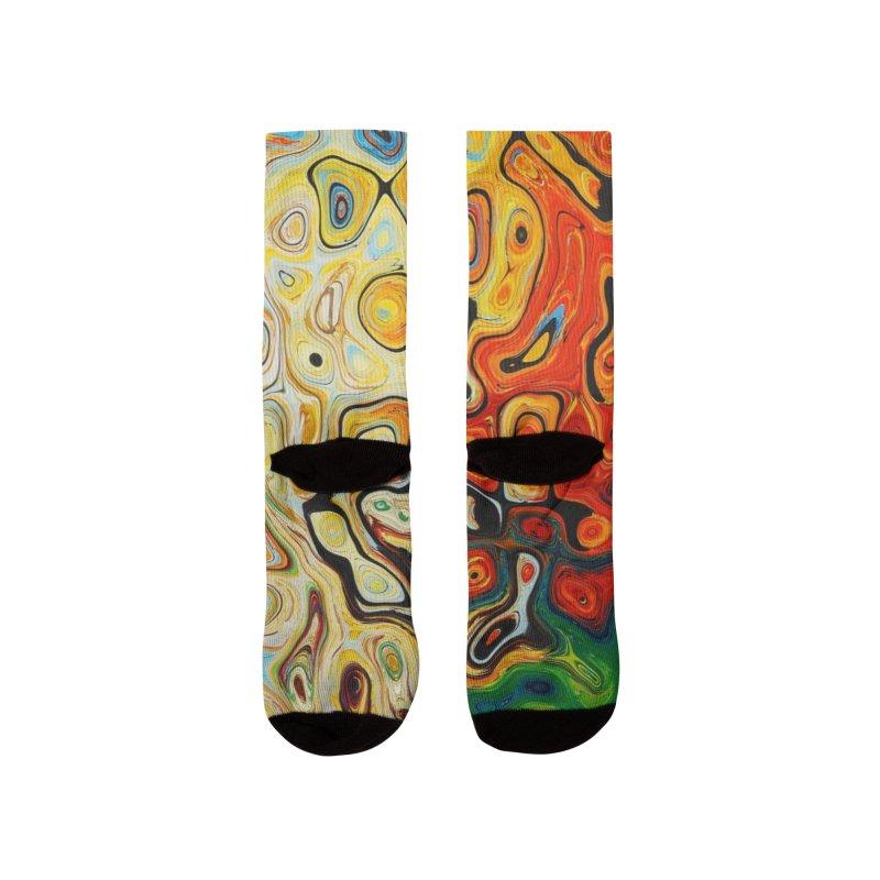 Ilustración mar de Colores abstractos Men's Socks by nomadfullprints Artist Shop