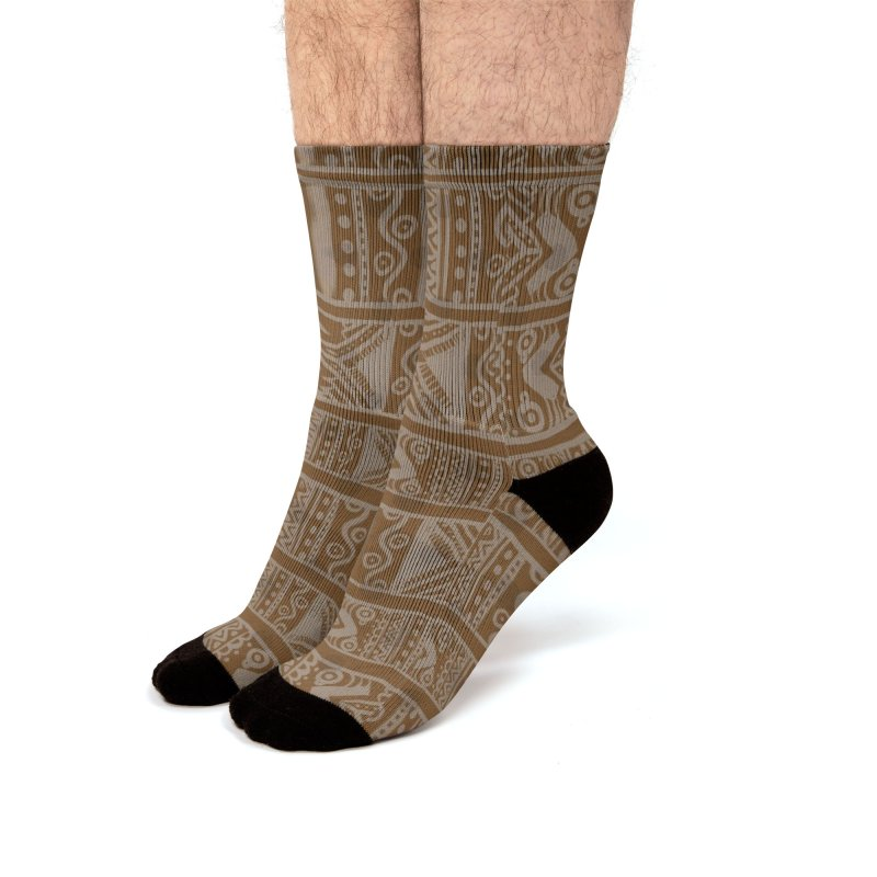 Patron Etnico África Men's Socks by nomadfullprints Artist Shop