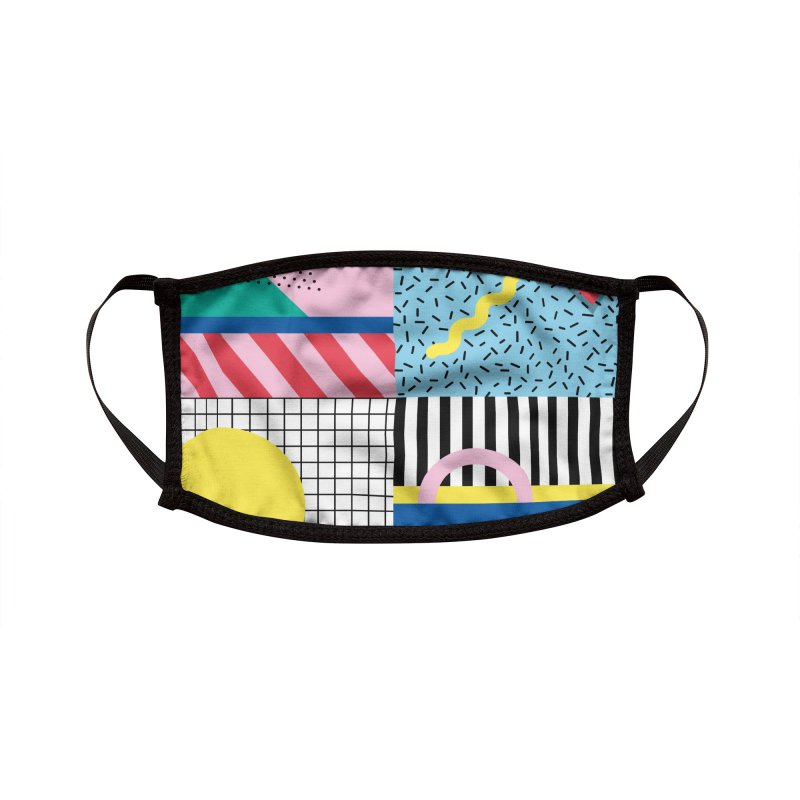 Memphis party Accessories Face Mask by Nomad Unicorn