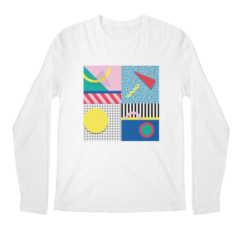 Memphis party Men's Longsleeve T-Shirt by Nomad Unicorn