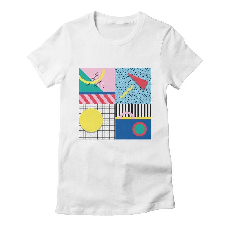Memphis party Women's T-Shirt by Nomad Unicorn