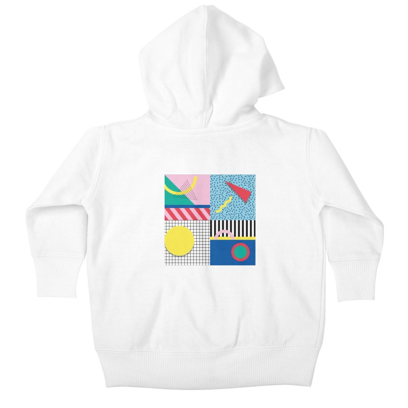 Memphis party Kids Baby Zip-Up Hoody by Nomad Unicorn