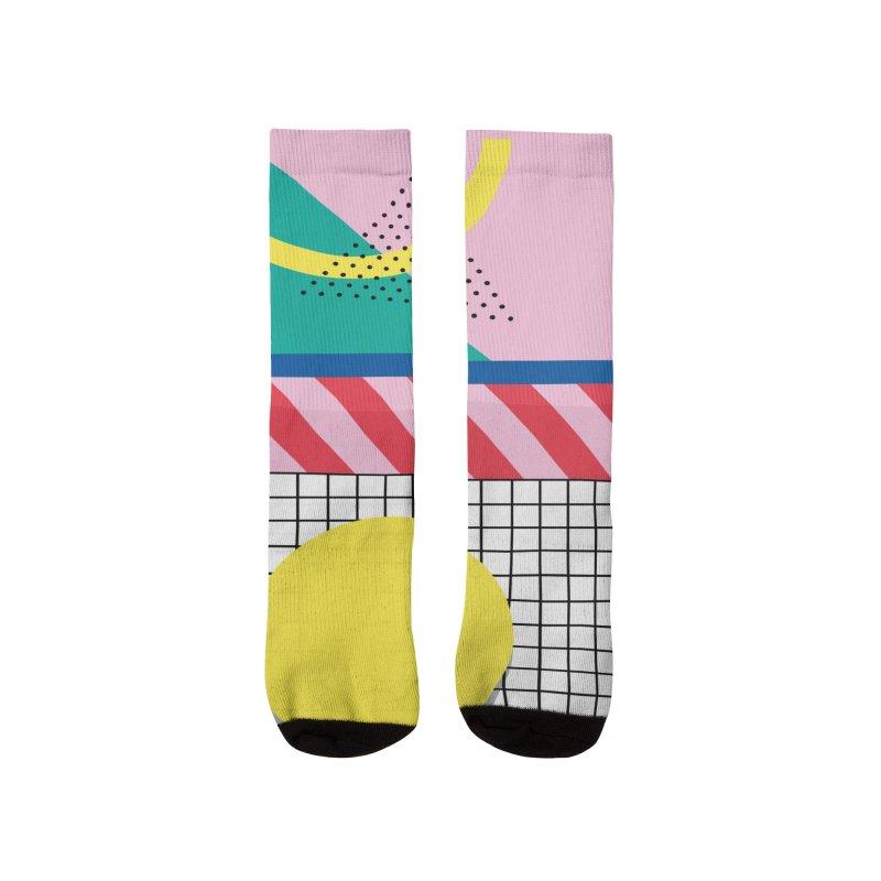 Memphis party Men's Socks by Nomad Unicorn