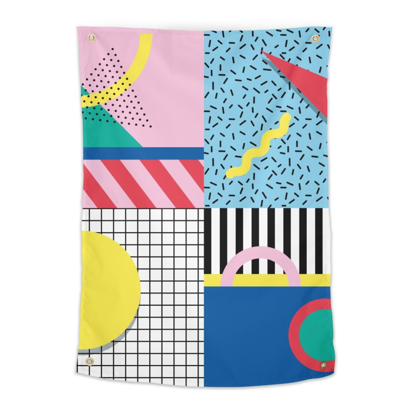Memphis party Home Tapestry by Nomad Unicorn