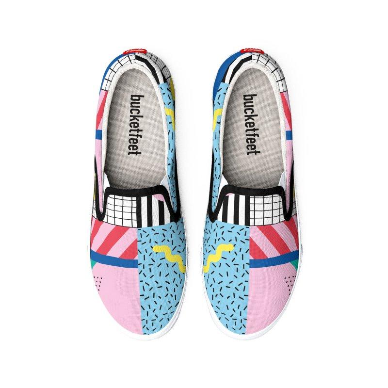 Memphis party Women's Shoes by Nomad Unicorn