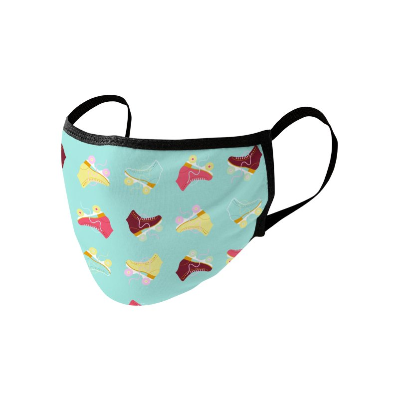 Roller skate love Accessories Face Mask by Nomad Unicorn