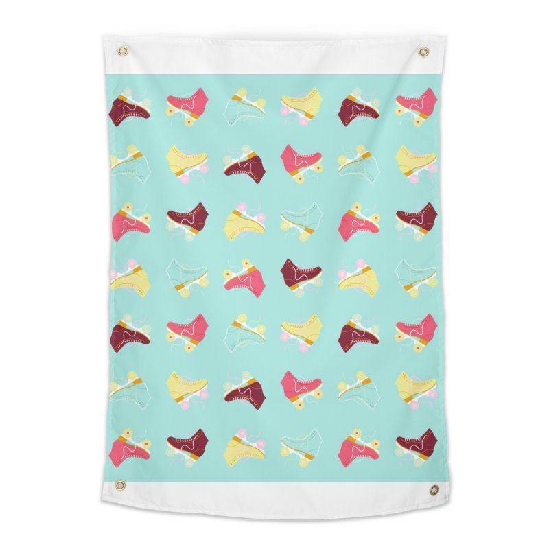 Roller skate love Home Tapestry by Nomad Unicorn