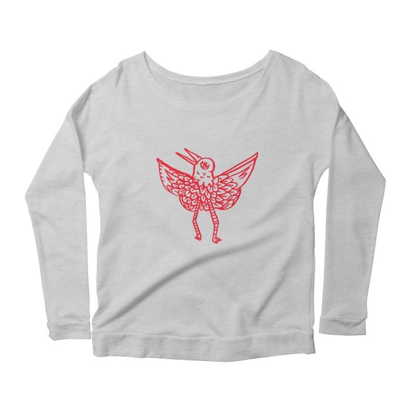 Bird-ing Women's Longsleeve Scoopneck  by nomasprint's Artist Shop