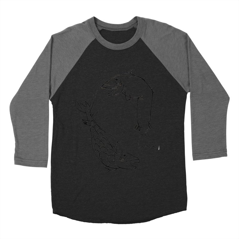 Fish-ing Women's Baseball Triblend T-Shirt by nomasprint's Artist Shop