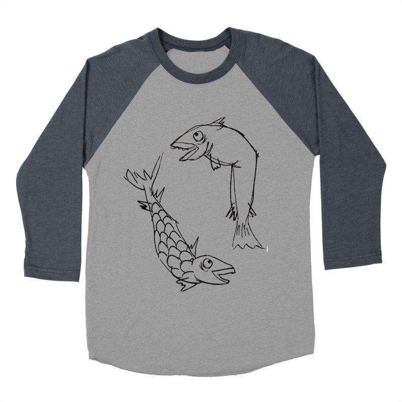 Fish-ing Men's Baseball Triblend T-Shirt by nomasprint's Artist Shop