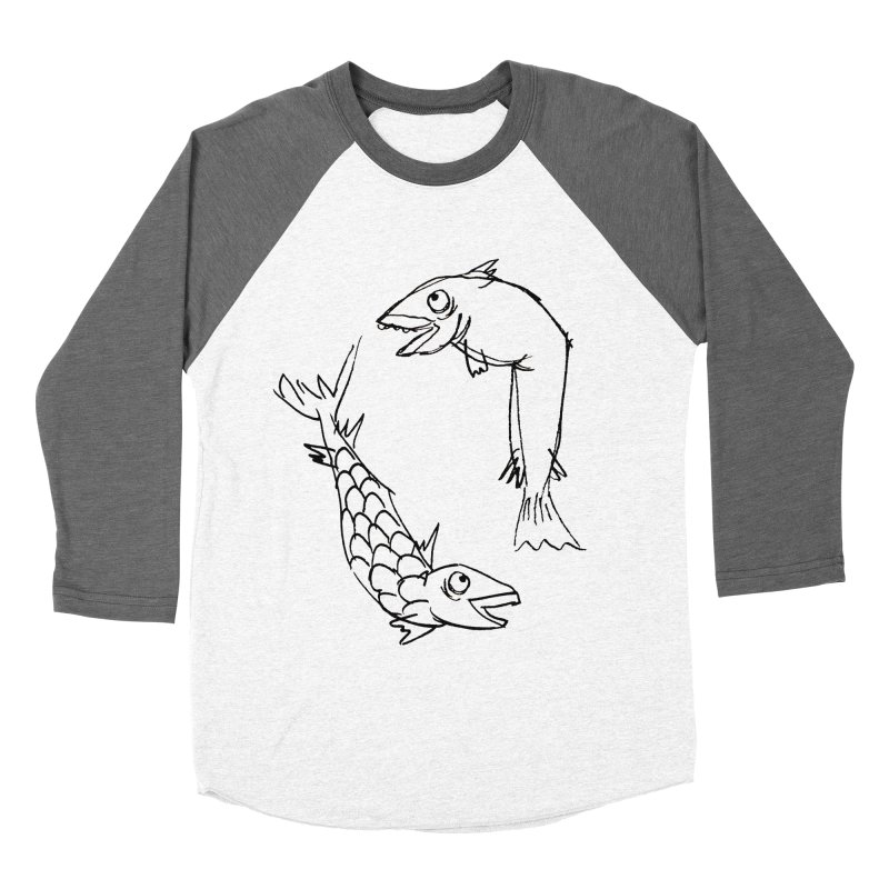 Fish-ing Men's Baseball Triblend T-Shirt by nomasprint's Artist Shop