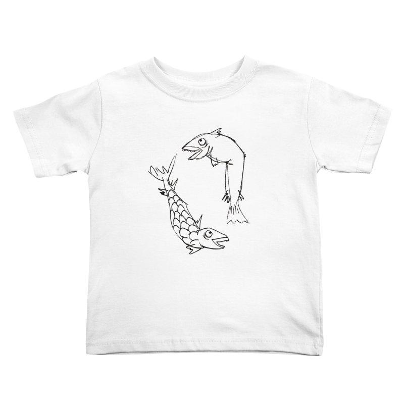 Fish-ing Kids Toddler T-Shirt by nomasprint's Artist Shop