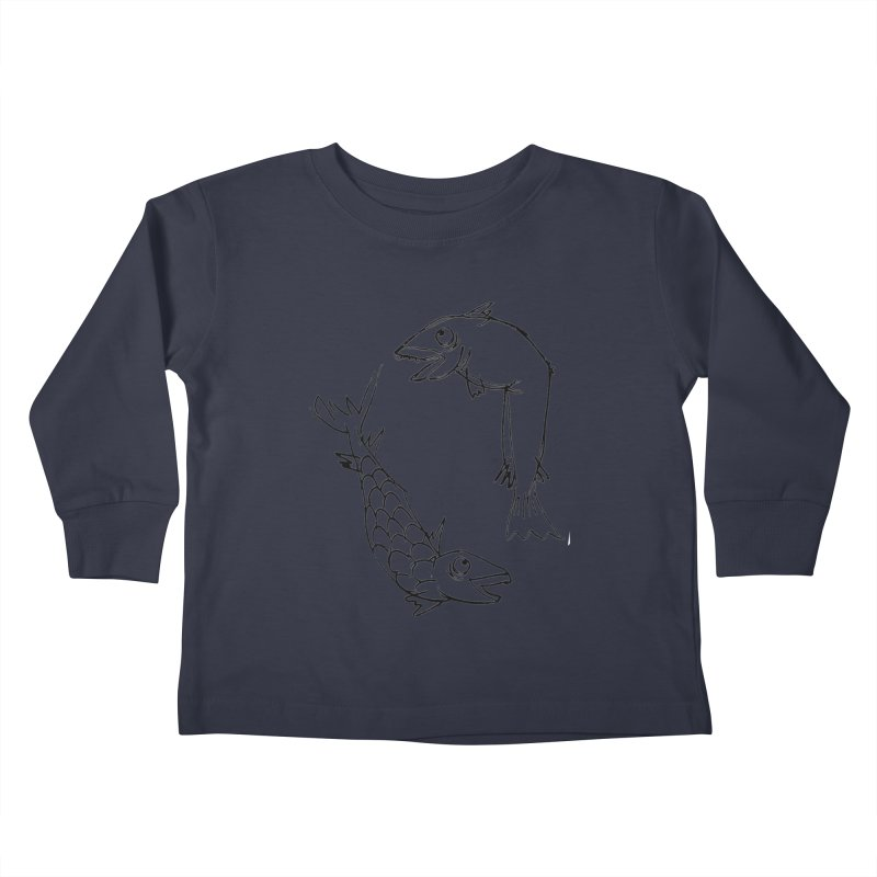 Fish-ing Kids Toddler Longsleeve T-Shirt by nomasprint's Artist Shop