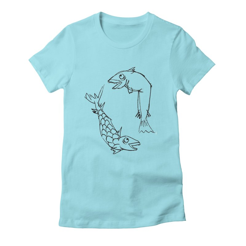 Fish-ing Women's Fitted T-Shirt by nomasprint's Artist Shop