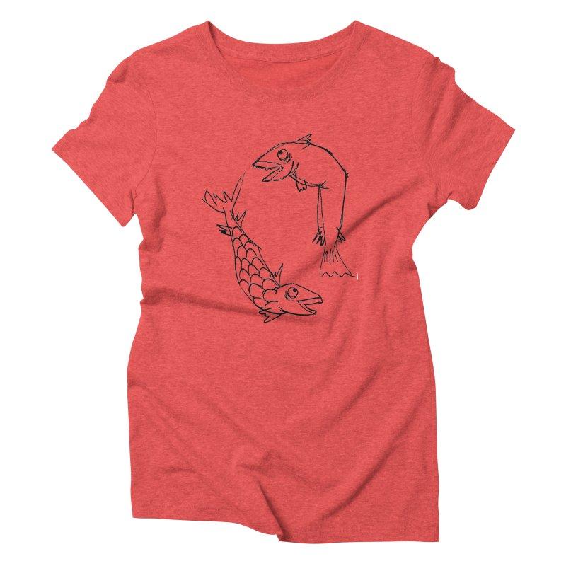 Fish-ing Women's Triblend T-shirt by nomasprint's Artist Shop