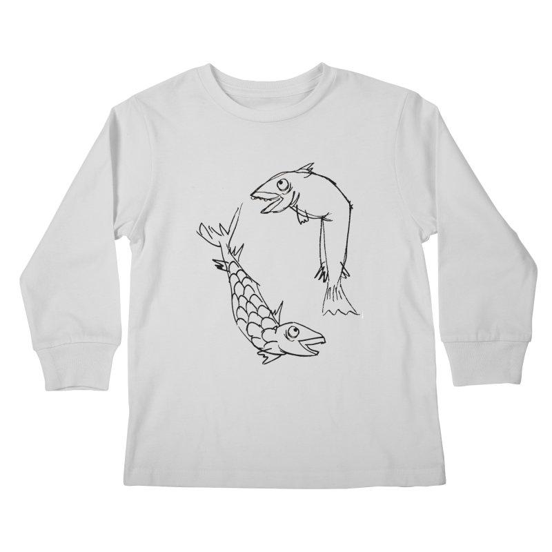 Fish-ing Kids Longsleeve T-Shirt by nomasprint's Artist Shop
