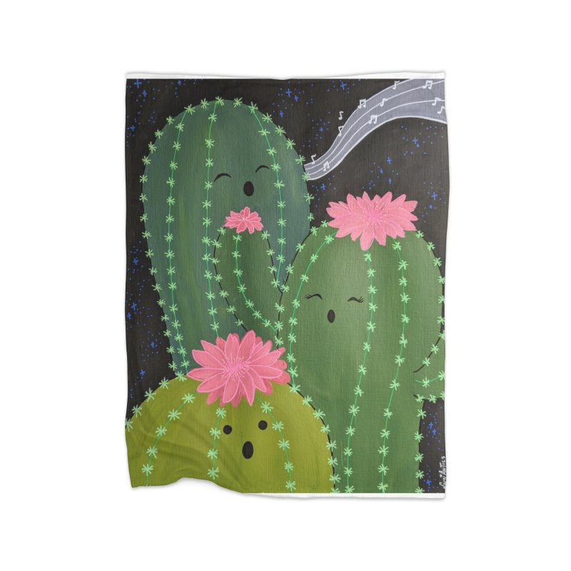 It's Not Summer 'Till the Cactus Sings Home Blanket by nomiantics's Artist Shop