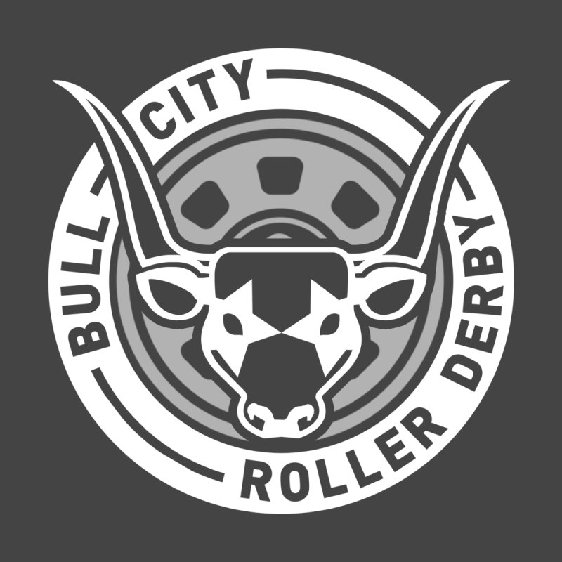 Wheel Badge Men's T-Shirt by Bull City Roller Derby Shop