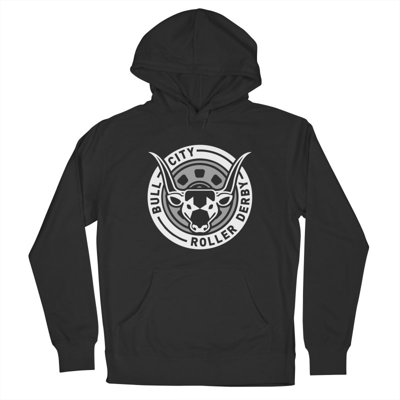 Wheel Badge Men's Pullover Hoody by Bull City Roller Derby Shop