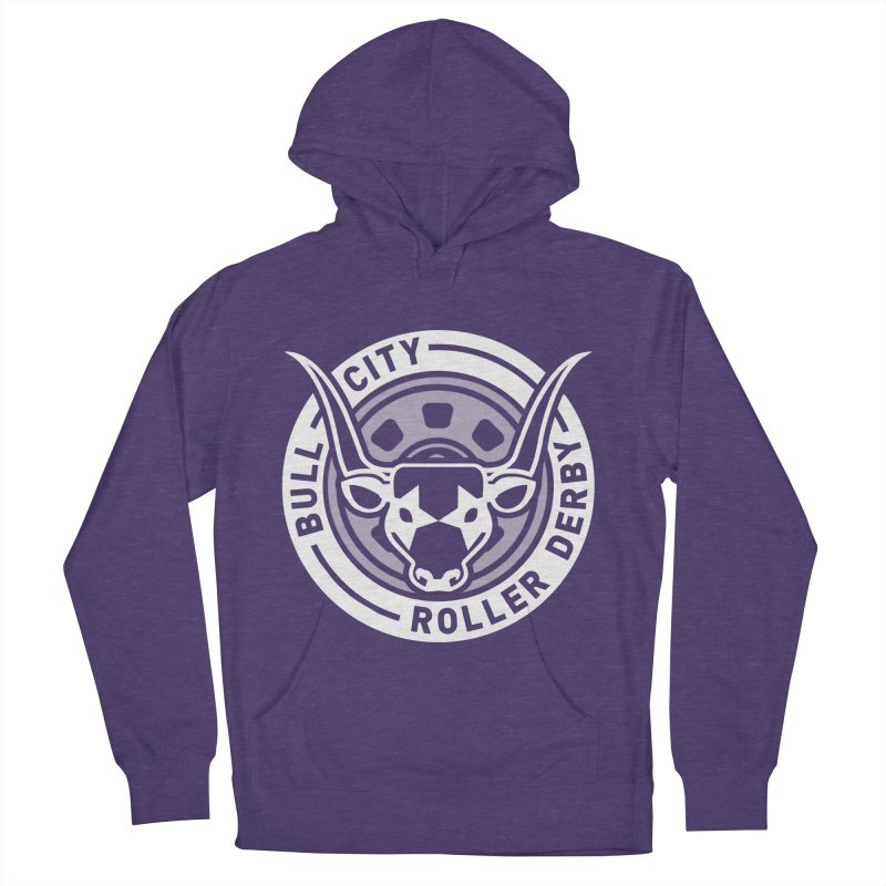Wheel Badge Women's French Terry Pullover Hoody by Bull City Roller Derby Shop