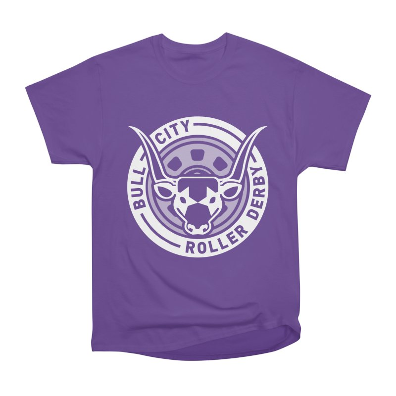 Wheel Badge Women's Heavyweight Unisex T-Shirt by Bull City Roller Derby Shop
