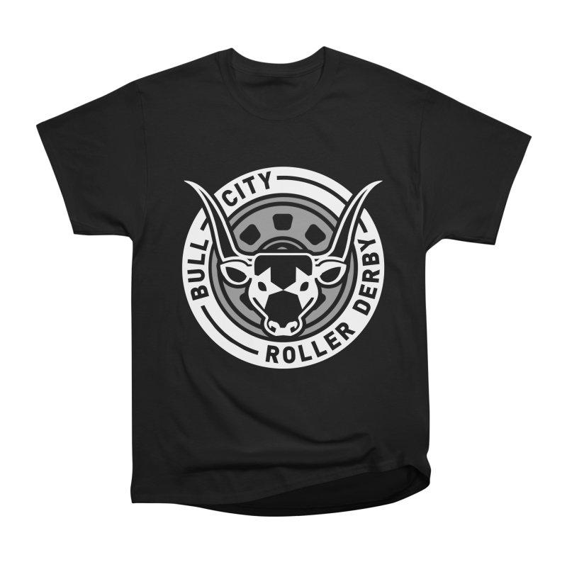 Wheel Badge Men's T-Shirt by Bull City Roller Derby Shop