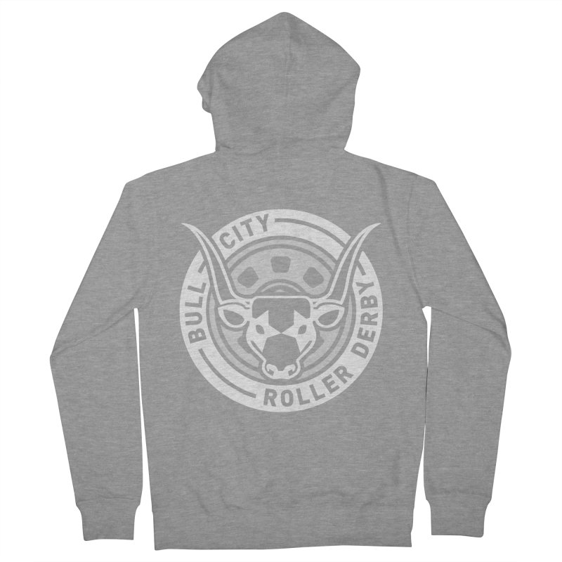 Wheel Badge Women's French Terry Zip-Up Hoody by Bull City Roller Derby Shop