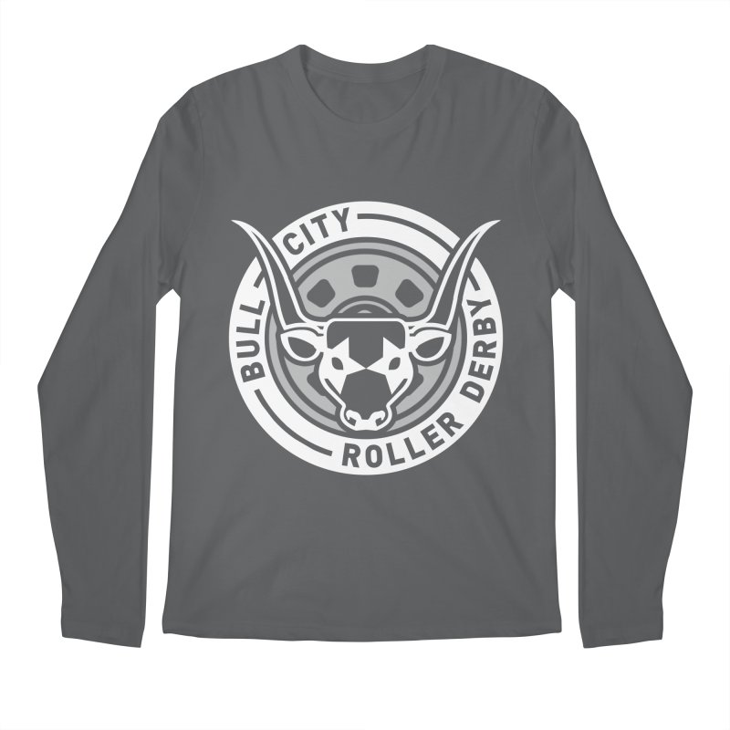 Wheel Badge Men's Regular Longsleeve T-Shirt by Bull City Roller Derby Shop
