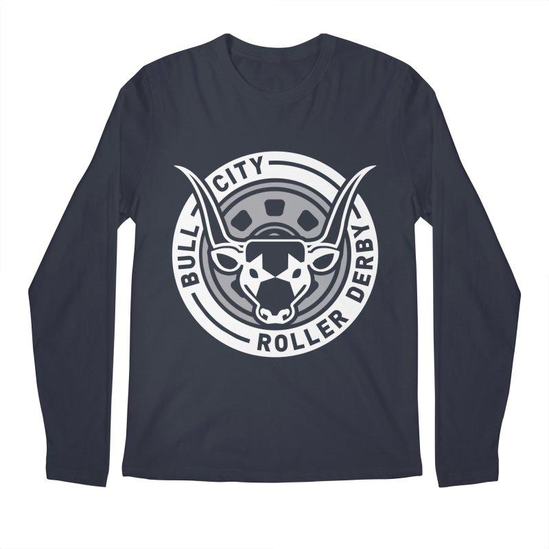 Wheel Badge Men's Regular Longsleeve T-Shirt by Bull City Roller Derby Shop
