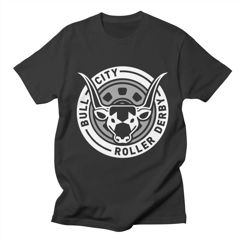 Wheel Badge Women's Regular Unisex T-Shirt by Bull City Roller Derby Shop