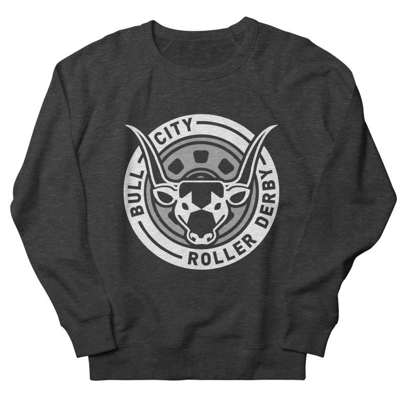 Wheel Badge Men's French Terry Sweatshirt by Bull City Roller Derby Shop