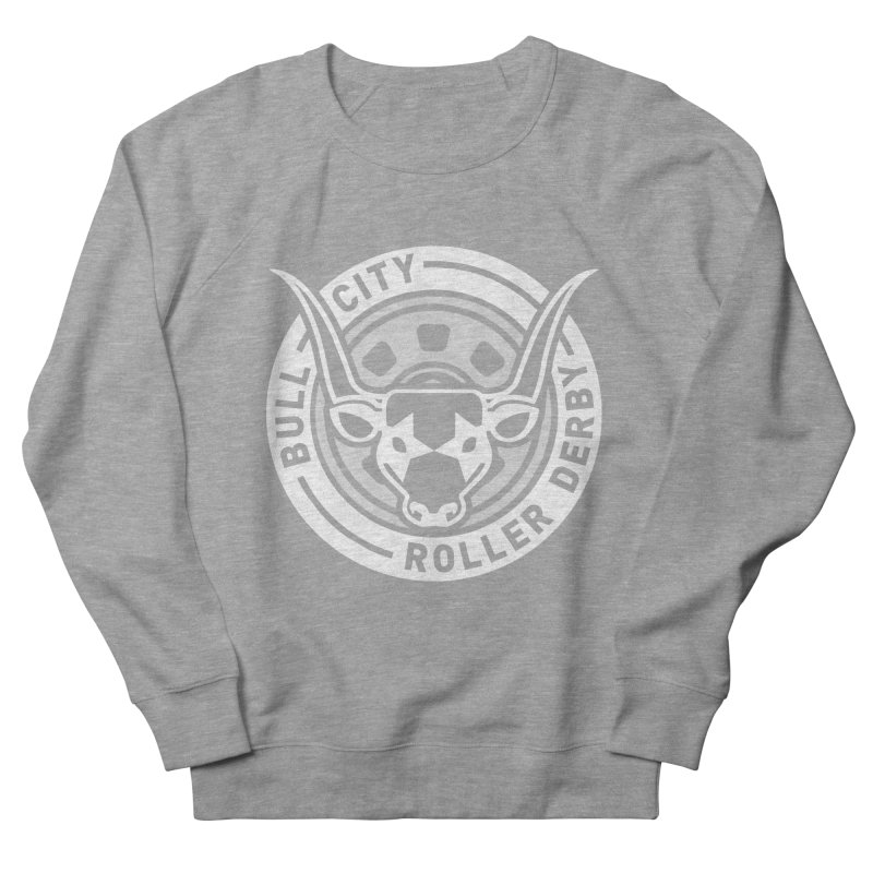 Wheel Badge Men's French Terry Sweatshirt by Bull City Roller Derby Shop