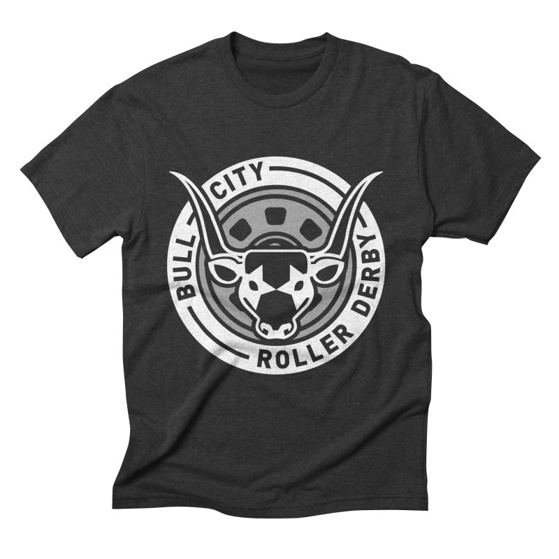 Wheel Badge Men's Triblend T-Shirt by Bull City Roller Derby Shop