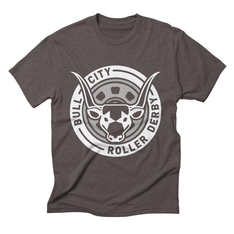 Wheel Badge Men's Triblend T-Shirt by Bull City Roller Derby Shop