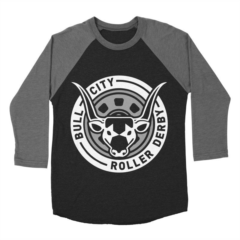 Wheel Badge Men's Baseball Triblend Longsleeve T-Shirt by Bull City Roller Derby Shop