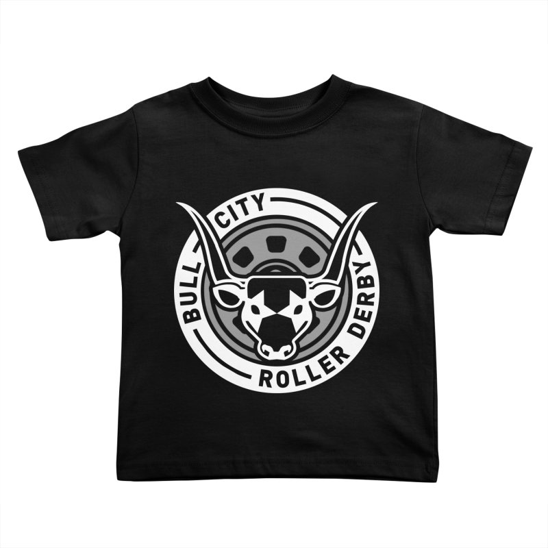 Wheel Badge Kids Toddler T-Shirt by Bull City Roller Derby Shop